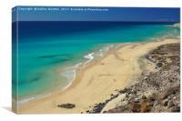 Playa El Salmo, Fuerteventura, Canvas Print