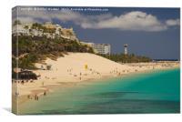 Playa de la Cebada, Fuerteventura, Canvas Print