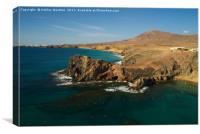 Papagayo Headland, Lanzarote, Canvas Print