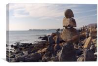Stone Balancing, Playa Blanca, Canvas Print