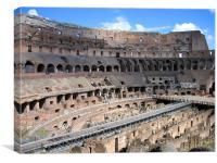 Colosseum interior, Rome, Italy, Canvas Print