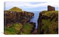 Castle of Old Wick, Caithness, Scotland, UK, Canvas Print