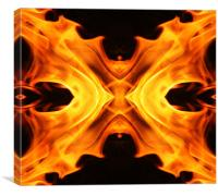 Abstract flames butterfly shape, Canvas Print