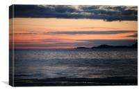 Camusdarach beach sunset, Canvas Print