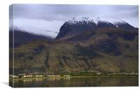 Ben Nevis in winter, Scotland, Canvas Print
