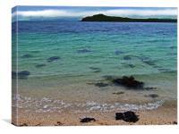 Coral Beach, Skye, landscape Scotland, Canvas Print
