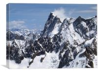 French alps, Mont Blanc mountain range, Canvas Print