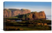 Cliffs and coastline at Eabost, Isle of Skye, Canvas Print
