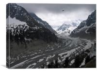 Mer de Glace, french alps, France, Canvas Print