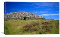 Grey Cairns of Camster in Caithness, Scotland, Canvas Print