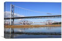 Forth road bridge, Queensferry, Scotland, Canvas Print