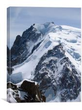 Mont Blanc, France, highest mountain in Europe, Canvas Print