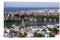 Elliðaá River in Reykjavík, Canvas Print
