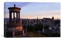 Edinburgh city Scotland, Canvas Print