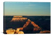 Sunrise Over The Grand Canyon, Canvas Print