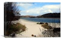 White sands of Morar near Arisaig. West Highlands , Canvas Print