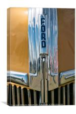 Gold and chrome Ford, Canvas Print
