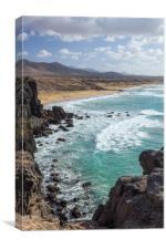 Surfers Beach, El Cotillo, Fuerteventura, Canvas Print
