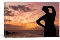 The Fisherman's Wife Waits, El Cotillo, Canvas Print