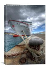 The Ferry, Morro Jable, Fuerteventura, Canvas Print