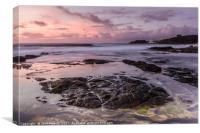 Surfers Beach Dusk, Canvas Print