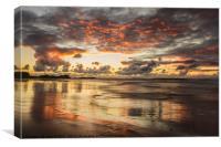Tindaya Sunset Reflections, Canvas Print