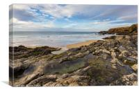 Rock Pools At The Beach, Canvas Print