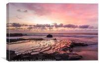 Brain Rock Sunset, Surfers Beach, El Cotillo, Canvas Print