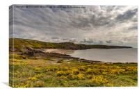 Fall Bay Gower, Canvas Print