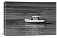 Waiting For The Tide on Swansea Bay, Canvas Print