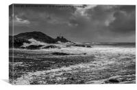 Stormy Mumbles Head, Canvas Print