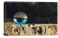 Reflections in the crystal ball, Canvas Print
