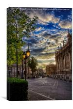 The old Seville, Canvas Print