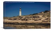 Lighthouse on the beach, Canvas Print