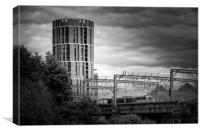 Candle Tower Leeds, Canvas Print