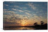 Chobe sunset, Canvas Print