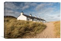 Secluded Fisherman's Cottages, Canvas Print