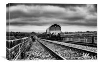 Corby Steel Works to Margam Coil Train, Canvas Print