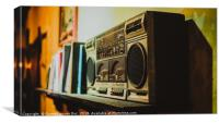 Old vintage radio, Canvas Print
