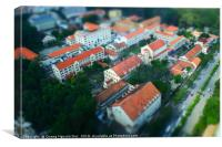 Miniature French architecture in Saigon, Vietnam, Canvas Print