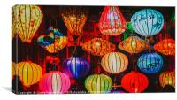 Colorful Traditional Vietnam Lanterns, Canvas Print