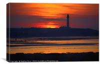 Covesea Skerries Lighthouse Lossiemouth , Canvas Print