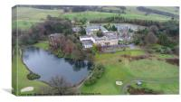 Shrigley Hall and it's surroundings , Canvas Print
