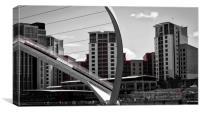 Abstract Millennium Bridge over the River Tyne, Canvas Print