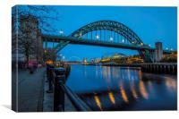 Tyne Bridge in Newcastle upon Tyne, Canvas Print
