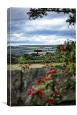 Angel of the North from afar, Canvas Print