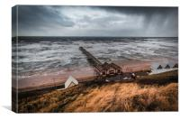 Saltburn by the Sea Pier from the cliff top, Canvas Print