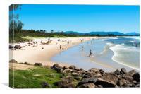 Byron bay Main beach, Canvas Print