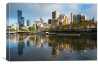 Melbourne city skyline , Canvas Print