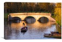 Golden hour at Cambridge, Canvas Print